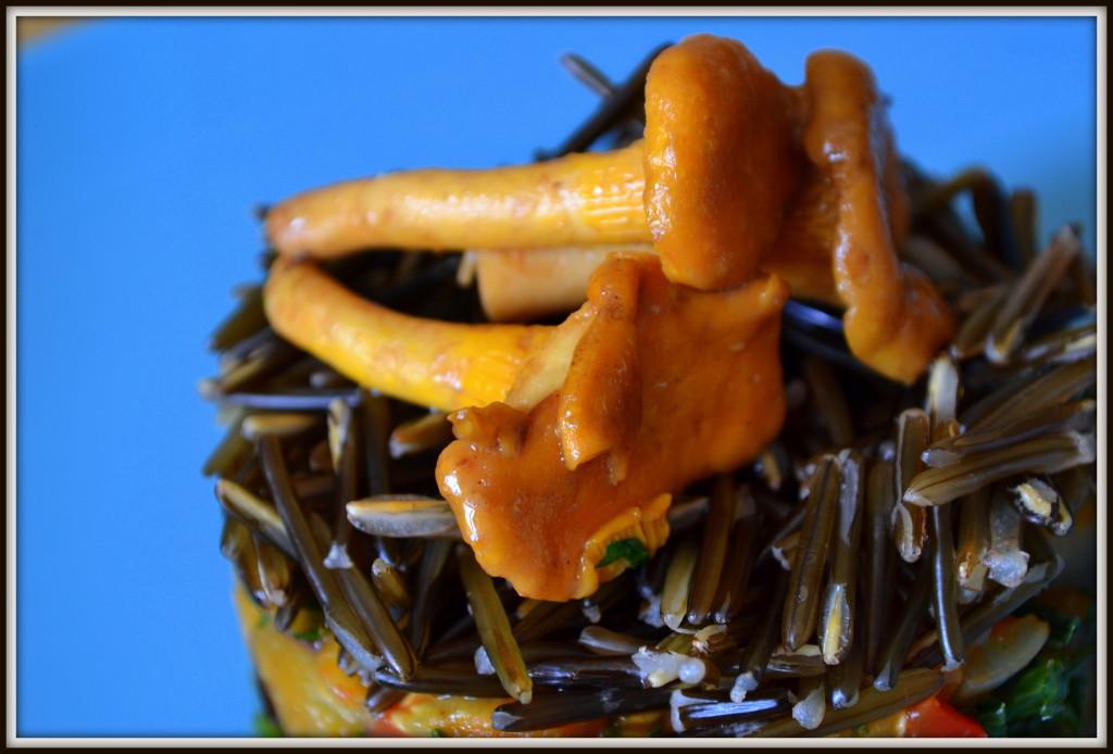 dziki ryż z kurkami