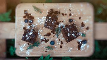 Bezglutenowe brownie z wiśniami (bez pszenicy, mleka, jajek)