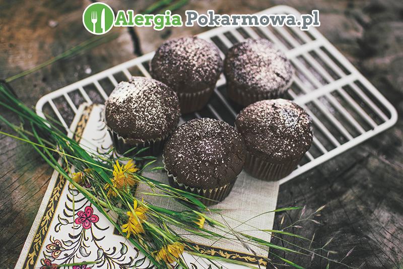 Bezglutenowe babeczki czekoladowe (bez glutenu, mleka, jajek, soi)