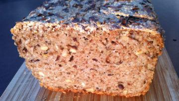 Chleb z kaszy gryczanej (bez pszenicy, glutenu, mleka, jajek)